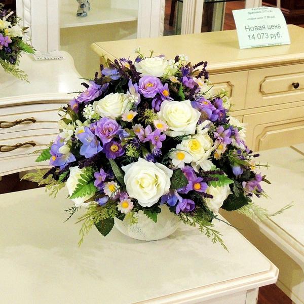 Свадебные композиции из искусственных цветов своими руками